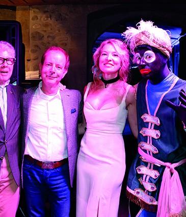10. de gauche à droite M. Morris Zand, M. Jean-Bernard Wurm et Mme Sofia Komarova-Bolshanina, directrice de la Galerie Artvera's