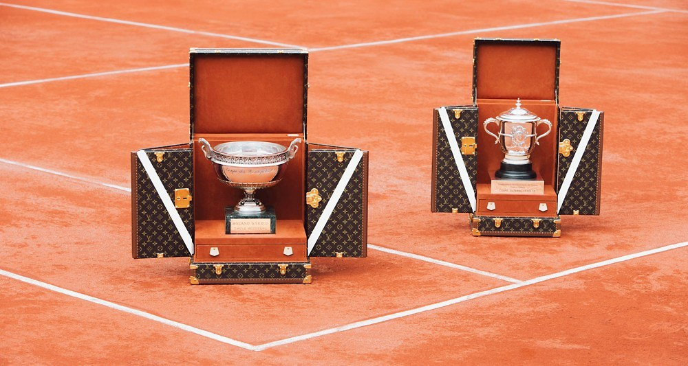 Les deux malles «trophées» Louis Vuitton pour Roland-Garros