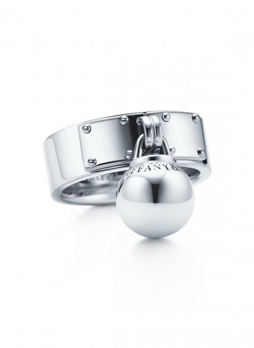 Tiffany City HardWear Ball Dangle Ring in Sterling Silver