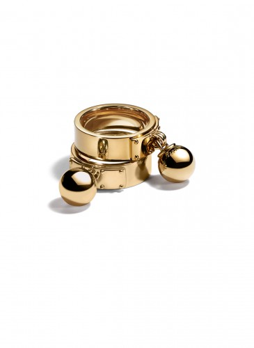 Tiffany City HardWear Bead Dangle Rings in 18K Yellow Gold