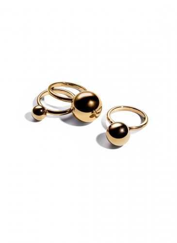 Tiffany City HardWear Bead Rings in 18K Yellow Gold