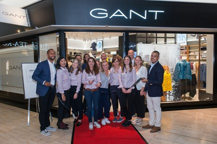 The GANT Team at the official opening