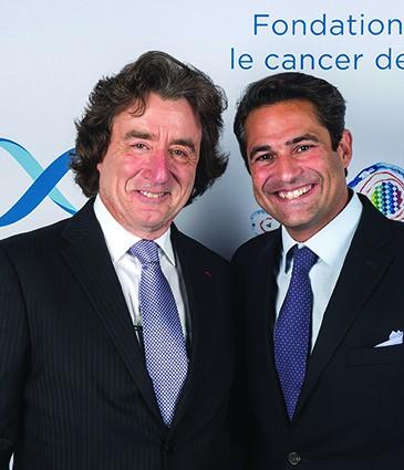 Robert Hensler, President Fondation Cansearch et Marc Ansari Fondateur et Directeur