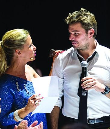 Stanislas Wawrinka et Laureen Hessels