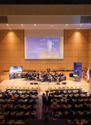 600 personnes présentes dans la Salle des Assemblées de l'ONU