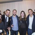 Raphael Dufour et son épouse, Nicolas Basquin (L'Oreal), Sophie de Quay, Bernard Schuster (UBP), Simon Jaccard