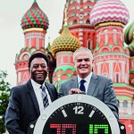 Pelé and Ricardo Guadalupe ready for the FIFA World Cup 2018