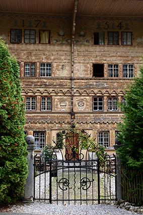 Facade ouvragée Grand Chalet Balthus