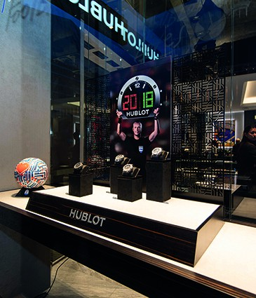 Hublot Loves Football window animation