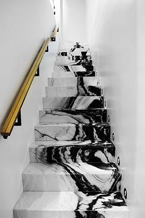 escalier sur mesure osaka white