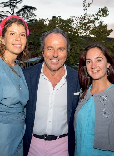 Carole Kittner, Directrice des Relations Publiques_ Jean Luc Naret, CEO La Réserve- Yulia Andrusenko, Yoga teacher 28juin2018©G.Maillot_point-of-views.ch-0398