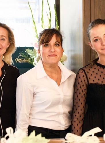 Sabine Castricher,Anabela Rede et Camille Vogel