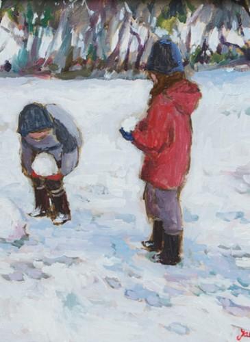 Les trois boules de neige - 38x46cm-1