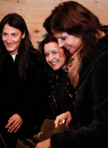 Maguarita Rebagliata Directrice Boutique Bulgari et son equipe Cynthia au milieu et Monica à droite