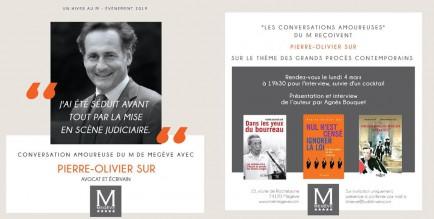 Invitation - Conversation Amoureuse au M de Megève - 4 mars 2019