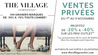 Les ventes privées approchent à The Village !