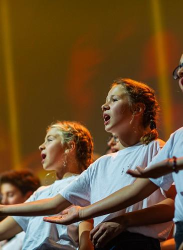 Enfants de la chorale de Veyrier sous la direction de Franz Jose
